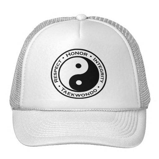 Integridad el Taekwondo del honor del respecto Gorro De Camionero