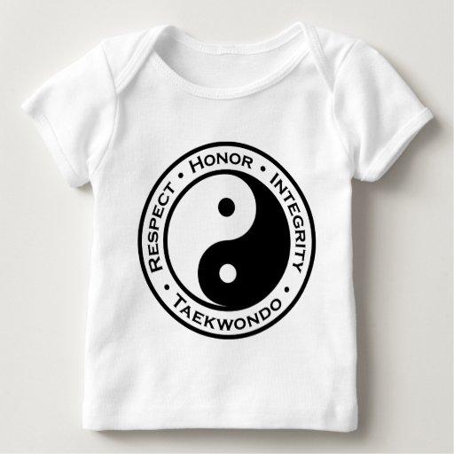 Integridad el Taekwondo del honor del respecto Playera De Bebé