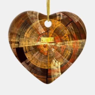 Integrity Abstract Art Heart Ornament