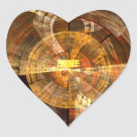 Integrity Abstract Art Heart Sticker