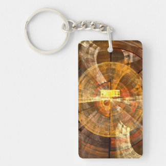 Integrity Abstract Art Keychain