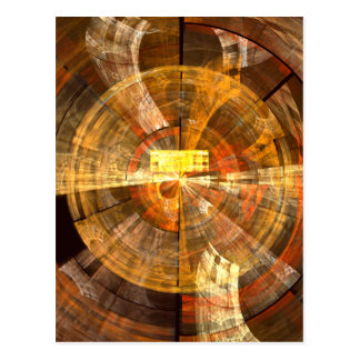 Integrity Abstract Art Postcard