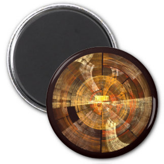 Integrity Abstract Art Round Magnet