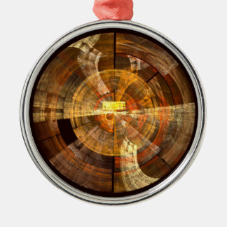 Integrity Abstract Art Round Metal Ornament