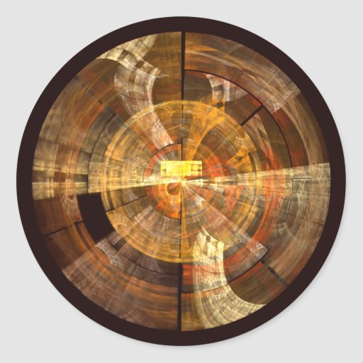 Integrity Abstract Art Round Sticker