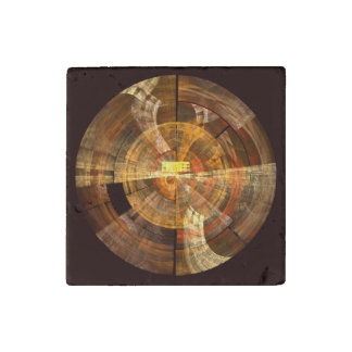 Integrity Abstract Art Stone Magnet