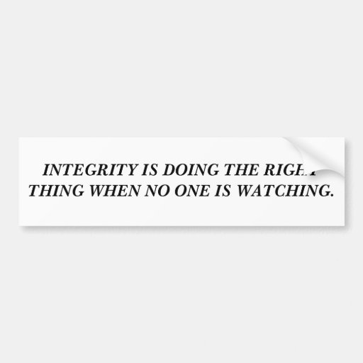 Integrity Bumper Stickers