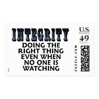 Integrity: Doing the right thing even when... Postage