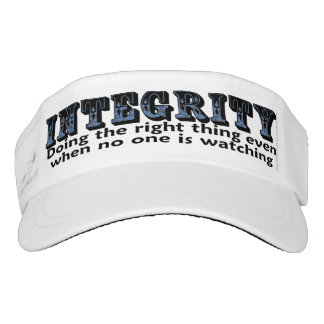 Integrity: Doing the right thing even when... Visor
