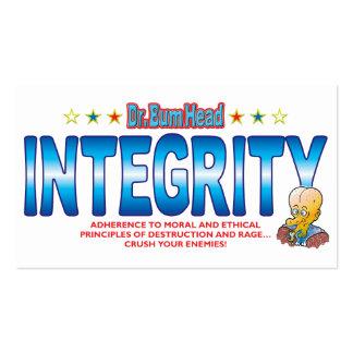 Integrity Dr Bum Head Business Card Templates