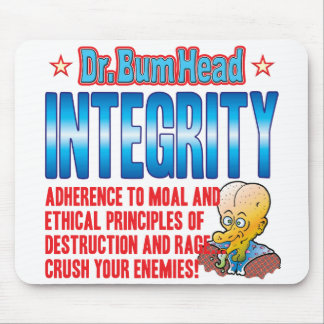 INTEGRITY Dr Bum Head Mouse Pads