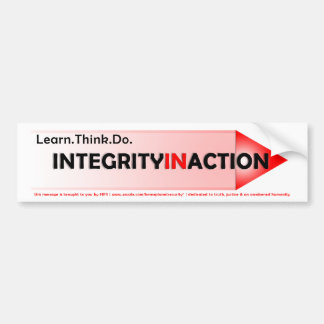 Integrity In Action Bumper Sticker