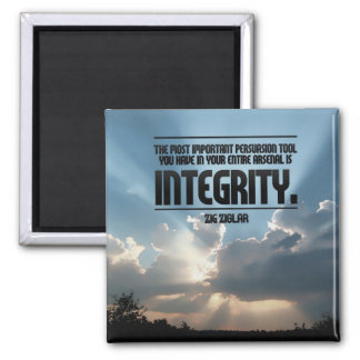 Integrity Inspirational Button 2 Inch Square Magnet