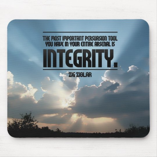 Integrity Inspirational Mouse Pad