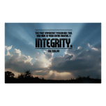 Integrity Inspirational Poster Print