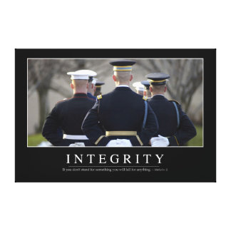 Integrity: Inspirational Quote Canvas Print