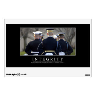 Integrity: Inspirational Quote Wall Decal