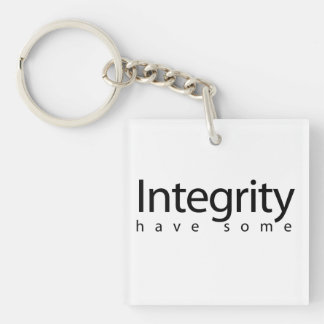 Integrity Double-Sided Square Acrylic Keychain