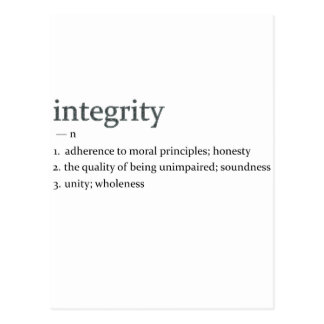 integrity postcard
