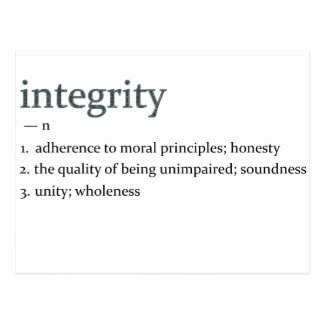 integrity post cards