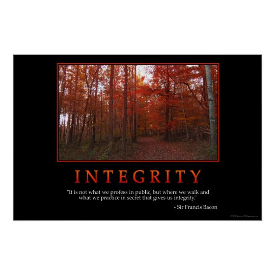 Integrity Poster Zazzle Com