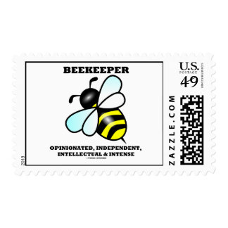 Intelectual independiente pertinaz del apicultor estampilla