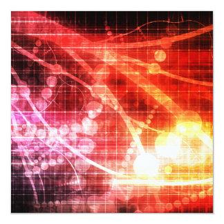 """Inteligencia artificial de la tecnología invitación 5.25"""" x 5.25"""""""