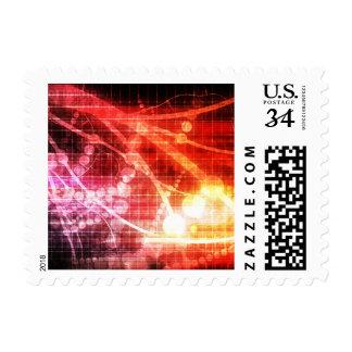 Inteligencia artificial de la tecnología sellos postales