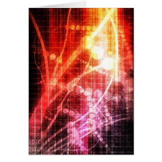 Inteligencia artificial de la tecnología tarjeta de felicitación