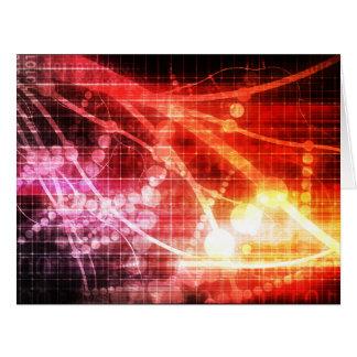 Inteligencia artificial de la tecnología tarjeta de felicitación grande