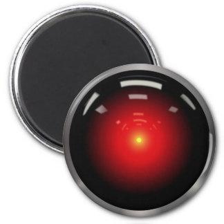 Inteligencia artificial del ojo del ordenador imán redondo 5 cm