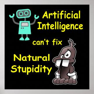 Inteligencia artificial - poster natural de la