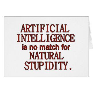 Inteligencia artificial tarjeta de felicitación