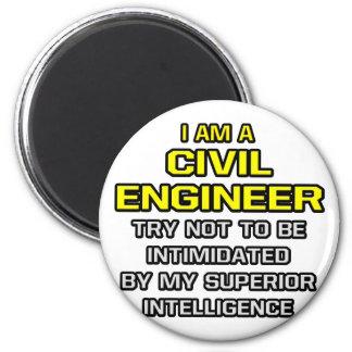 Inteligencia superior civil del ingeniero… imán redondo 5 cm