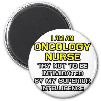 Inteligencia superior de la enfermera de la oncolo imán redondo 5 cm