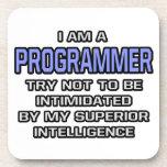 Inteligencia superior del chiste del programador… posavasos
