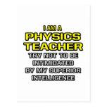 Inteligencia superior del profesor de la física… tarjetas postales
