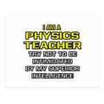Inteligencia superior del profesor de la física… postales