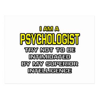Inteligencia superior del psicólogo… postales