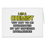 Inteligencia superior del químico… tarjeta