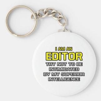 Inteligencia superior del redactor… llavero redondo tipo pin