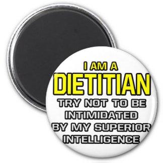 Inteligencia superior el dietético… imán redondo 5 cm