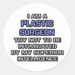 Inteligencia superior plástica del chiste del ciru etiqueta