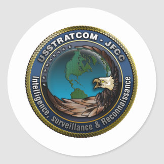 Inteligencia, vigilancia y reconocimiento de JFCC Pegatina Redonda