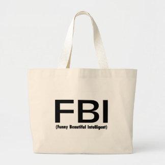 Inteligente hermoso divertido del FBI Bolsa