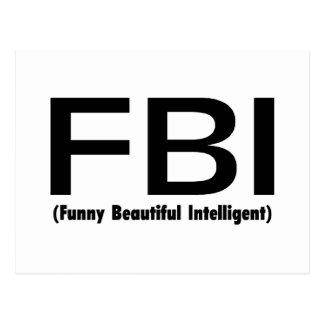 Inteligente hermoso divertido del FBI Postales