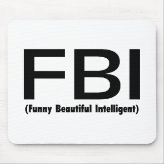 Inteligente hermoso divertido del FBI Alfombrillas De Raton