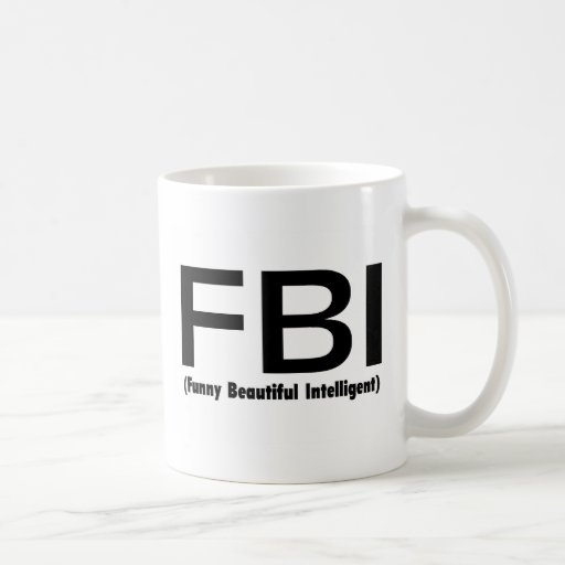 Inteligente hermoso divertido del FBI Tazas
