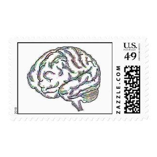 Inteligente tonto timbres postales