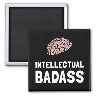 Intellectual Badass 2 Inch Square Magnet